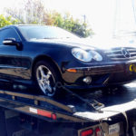 Mercedes CLK500 on tow truck